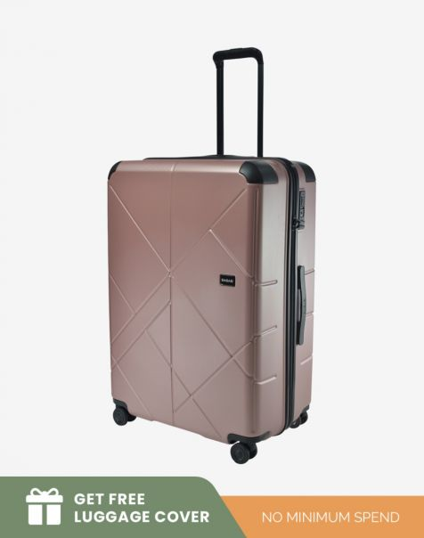 Bagasi Jasper Large - Pink (Free Luggagae Cover)