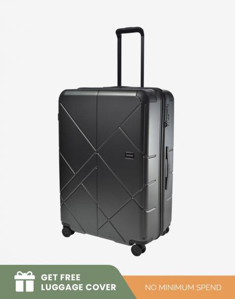 Bagasi Jasper Large - Black (Free Luggage Cover)