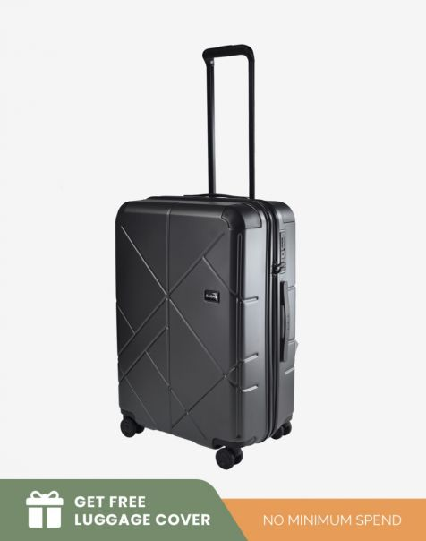 Bagasi Jasper Medium - Black (Free Luggage Cover)
