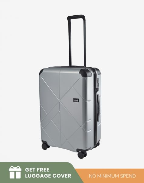 Bagasi Jasper Medium - Silver Leaf (Free Luggage Cover)