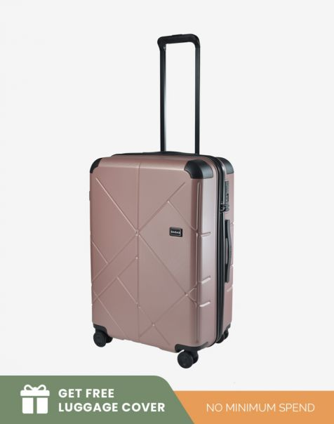 Bagasi Jasper Medium - Pink (Free Luggage Cover)