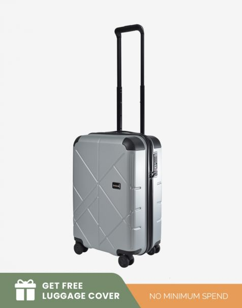 Bagasi Jasper Small - Silver Leaf (Free Luggage Cover)