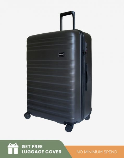Bagasi Bidara Matte Large - Black (Free Luggage Cover)