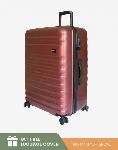 Bagasi Bidara Matte Large - Red (Free Luggage Cover)