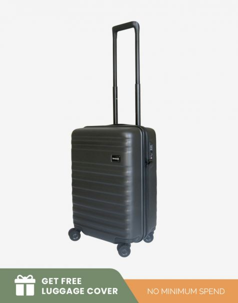Bagasi Bidara Matte Small - Black (Free Luggage Cover)