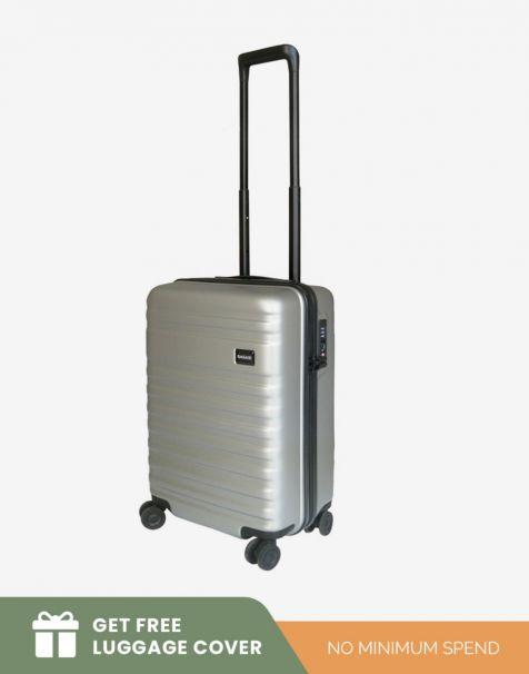 Bagasi Bidara Matte Small - Grey (Free Luggage Cover)