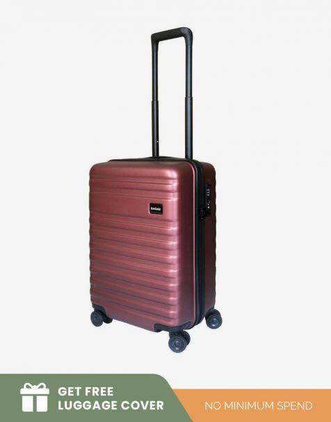 Bagasi Bidara Matte Small - Red (Free Luggage Cover)
