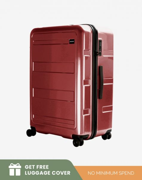 Bagasi Gili Large - Red (Free Luggage Cover)