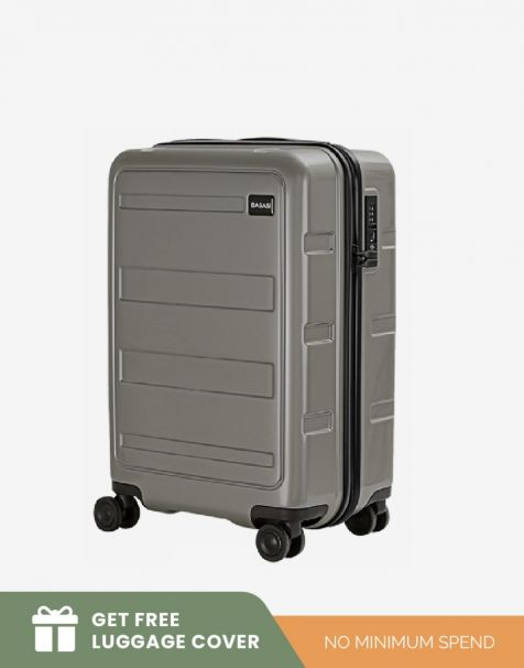 Bagasi Gili Small - Grey (Free Luggage Cover)