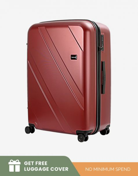 Bagasi Natuna Large - Red (Free Luggage Cover)