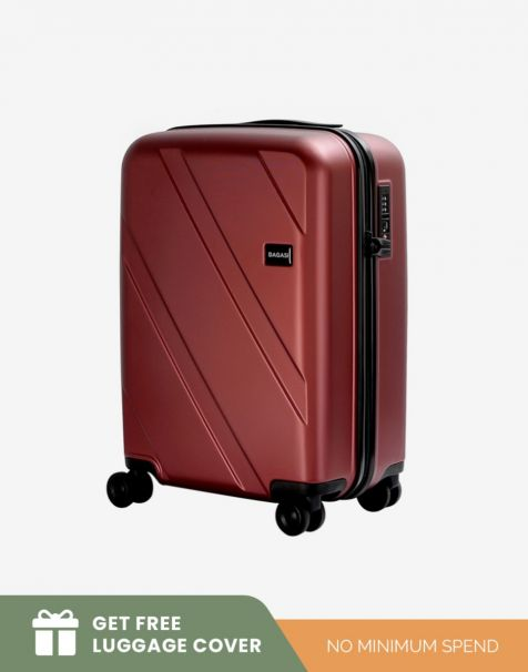Bagasi Natuna Small - Red (Free Luggage Cover)