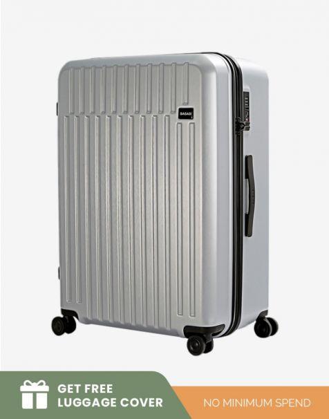 Bagasi Talaga Large - Silver (Free Luggage Cover)