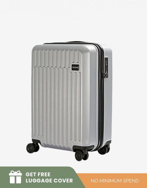 Bagasi Talaga Small - Silver (Free Luggage Cover)