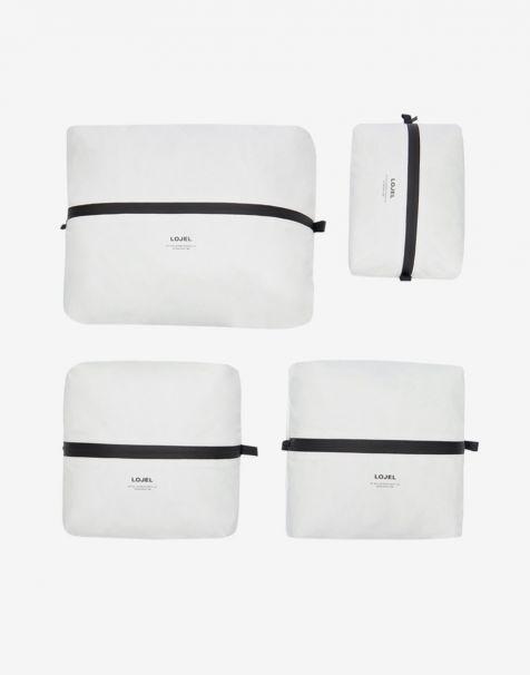 Lojel Slash Packing Kit 4 Organizer - Matte White
