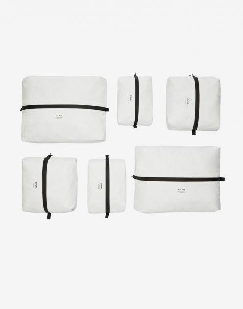 Lojel Slash Packing Kit 6 Organizer - Matte White