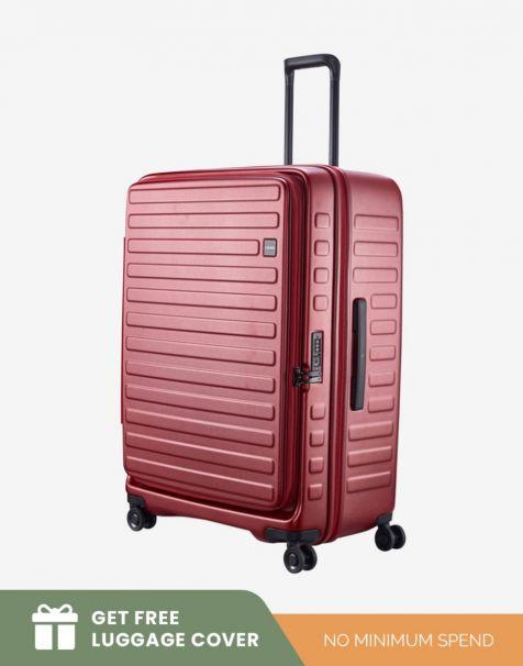 Lojel Cubo 1 Large - Burgundy (Free Luggage Cover)