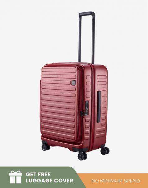 Lojel Cubo 1 Medium - Burgundy (Free Luggage Cover)