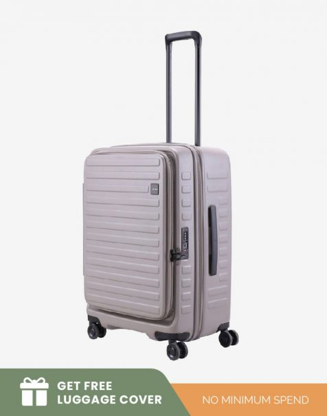 Lojel Cubo 1 Medium - Grey (Free Luggage Cover)
