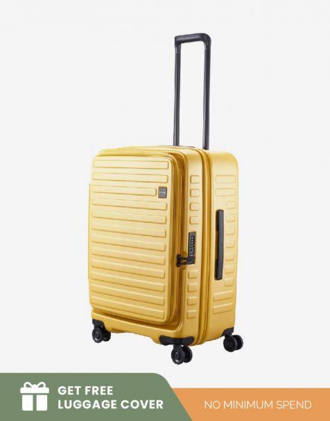 Lojel Cubo 1 Medium - Mustard (Free Luggage Cover)