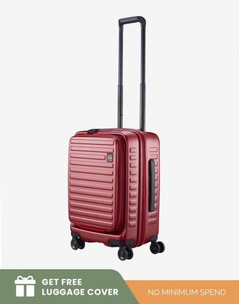 Lojel Cubo 1 Small - Burgundy (Free Luggage Cover)