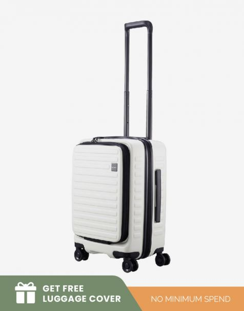 Lojel Cubo 1 Small - White (Free Luggage Cover)