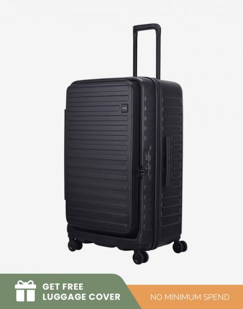 Lojel Cubo 1 Fit Large - Black (Free Luggage Cover)