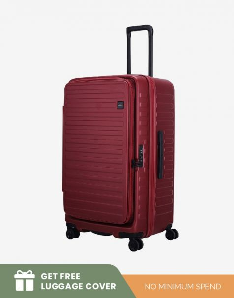 Lojel Cubo 1 Fit Large - Burgundy (Free Luggage Cover)
