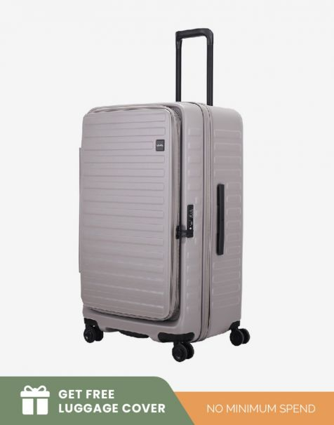 Lojel Cubo 1 Fit Large - Grey (Free Luggage Cover)