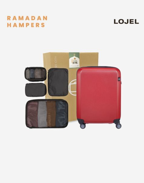 Lojel Rando Zip Expand Small & Lojel Accessories Travel Hampers (Luggage + Packing Kit)