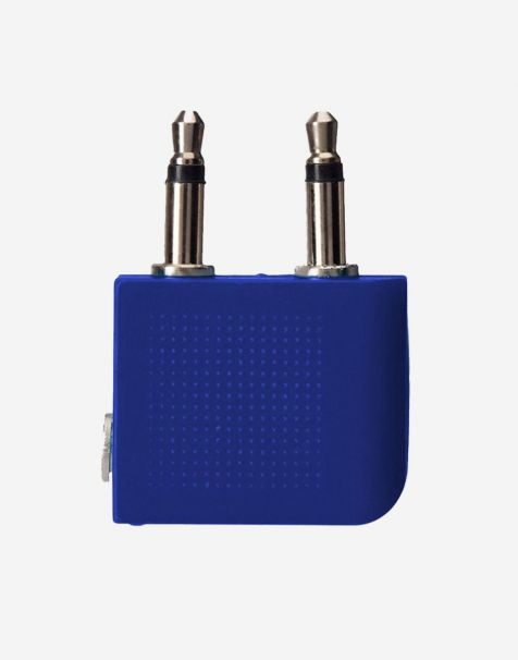 Travel Blue Airline Headphone Adaptor - Blue
