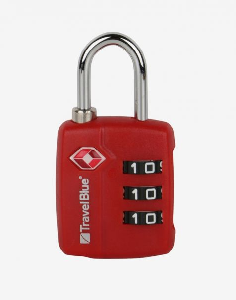Travel Blue Gembok Koper Padlock Combi TSA - Red