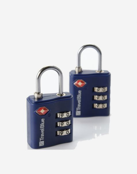 Travel Blue Gembok Koper Padlock (2pcs) - Blue