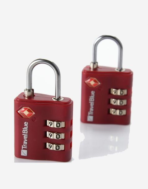 Travel Blue Gembok Koper Padlock (2pcs) - Red